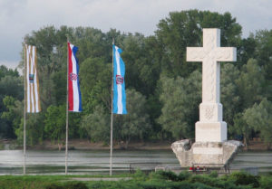 Zastave na ušću Vuke Vukovar glagoljica