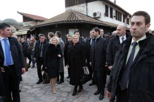 Kolinda Grabar Kitaroviæ u obilasku Sarajeva