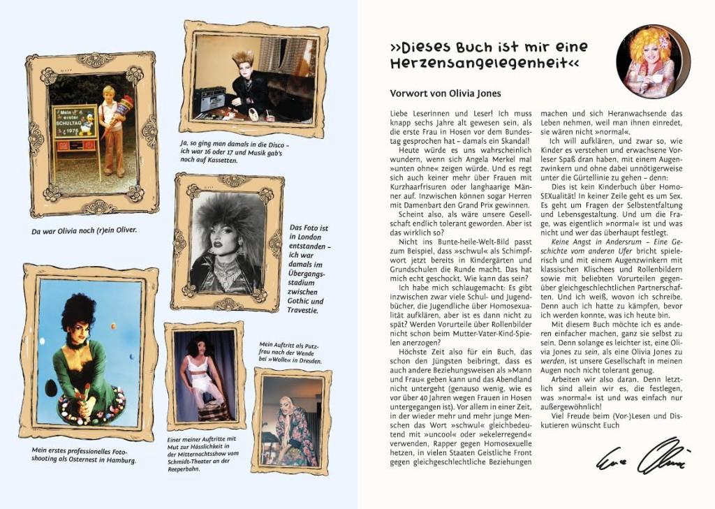 Uvod gdje Olivia Jones piše o sebi