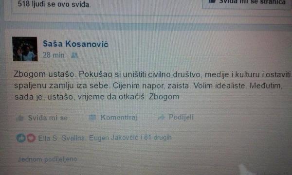 Status Saše Kosanovića