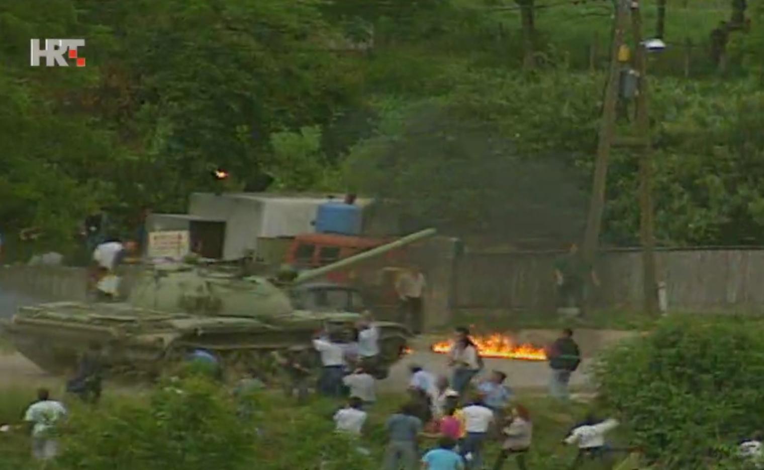 Image result for demonstracije kasarna maršal tito zagreb 1991