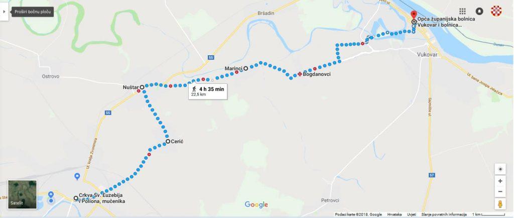 """Noćni pohod """"Putem spasa"""" Vinkovci - Vukovar 17.-18.11.2018. kroz kukuruzni  put - Marijanski zavjet za domovinu"""