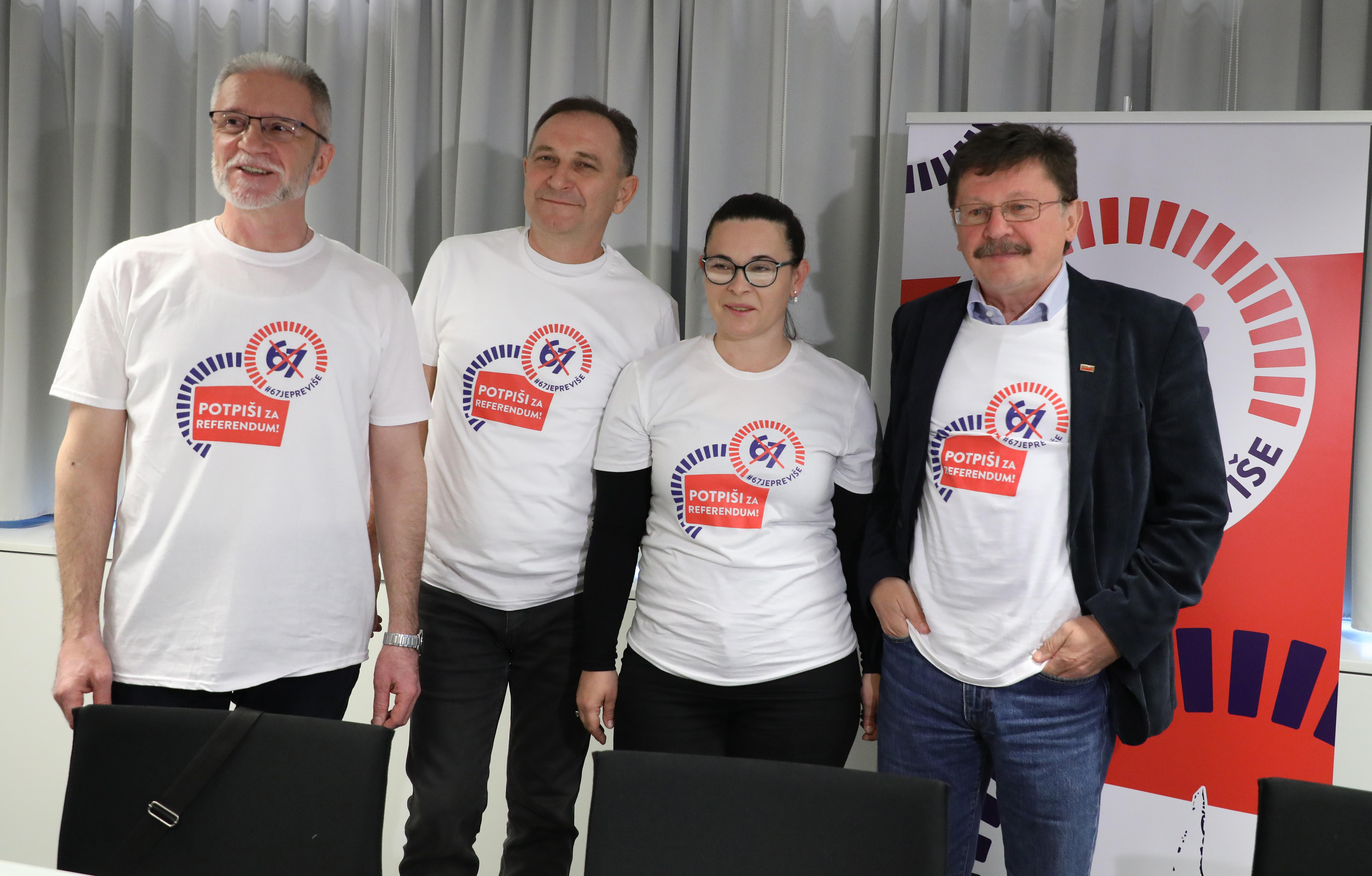 (FOTO) Pokreće se referendumska inicijativa koja se protivi odlasku u mirovinu sa 67 godina: '67 je previše'