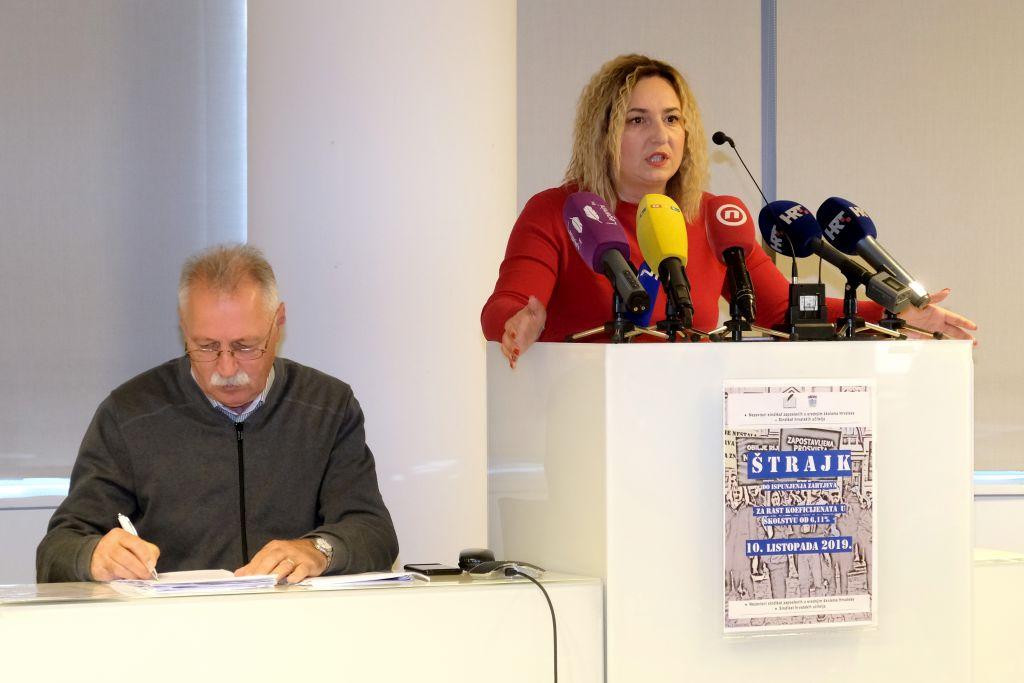 U utorak se štrajka u tri županije, sindikati zaprijetili novim prosvjedom