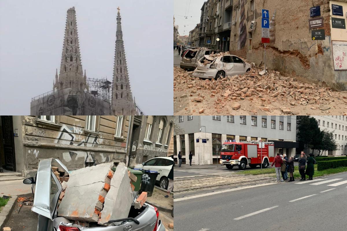 Foto Video Pogledajte Fotografije I Snimke Nakon Potresa U Zagrebu Srusio Se Vrh Desnog Tornja Katedrale Narod Hr