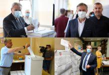 (FOTO) Požurili obaviti građansku dužnost: Evo tko je od kandidata već izašao na birališta