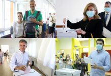 (FOTO) Parlamentarni izbori: Na biralištima bračni par Raspudić, Grabar-Kitarović, Plenković, Pupovac, Bernardić...