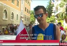 kolona poljskih turista