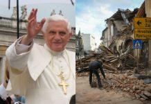 papa emeritus Benedikt XVI. potres