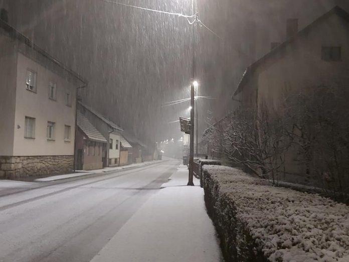 snijeg u Ogulinu