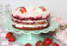 Jednostavna torta od kokosa, šumskog voća i lagane kreme od milerama!