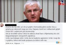 Komentari na objavu mons. Uzinića o homoseksualcima: 'U pravu ste, ali recite cijelu istinu'