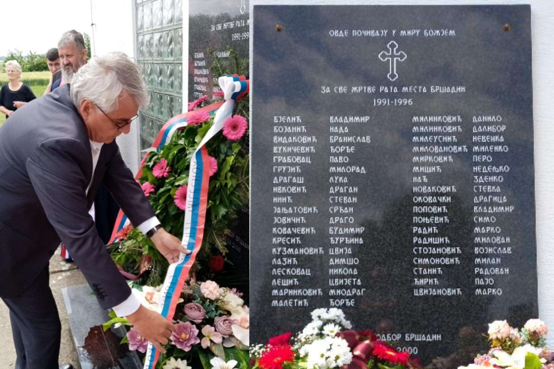 Srbi u Bršadinu podigli spomen ploču onima koji su napadali Vukovar –  narod.hr
