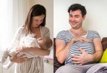 muškarac majka dojenje