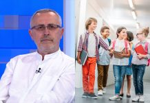 Željko Stipić i djeca u školi